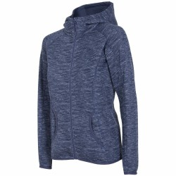 WOMEN'S FLEECE HOODIE DENIM MELANGE