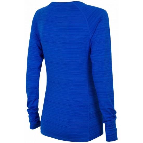 WOMEN'S ACTIVE LONG SLEEVE T-SHIRT COBALT BLUE MELANGE