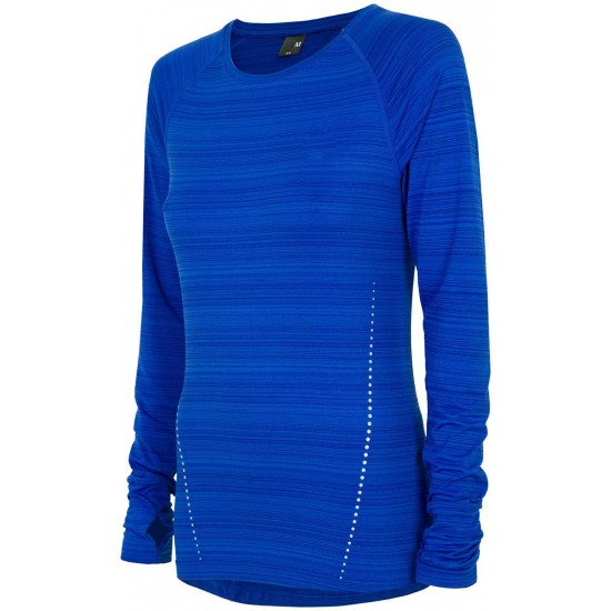 WOMEN'S ACTIVE LONG SLEEVE T-SHIRT COBALT BLUE MELANGE