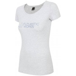 WOMEN'S T-SHIRT LIGHT GREY MELANGE
